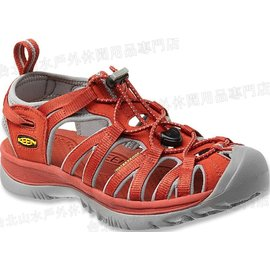 零碼特價[ KEEN ] 1010960 橘紅 Whisper 女款 美國越野護趾涼鞋/運動涼鞋/水陸鞋