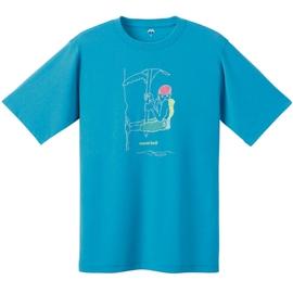 [ Mont-Bell ] 1104851 TQB 攀爬中 天藍 男排汗造型T恤 專利 Wickron 材質 montbell