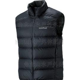 [ Mont-Bell ] Light Alpine 800FP 高保暖超輕鵝絨 羽絨背心/羽毛背心 男款 1101432-BK 黑色 montbell