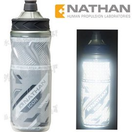 [ NATHAN ] Icon Bottle 圖騰保冷反光水壺 535ml NA4418NW 灰色