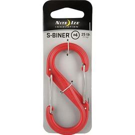 [ NITE IZE ] SBP4-03-10 S-BINER Plastic S型雙面塑膠扣環 4號 紅色