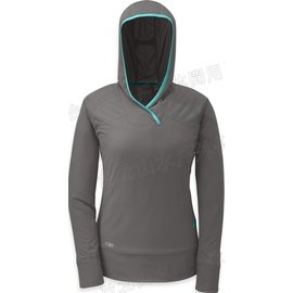 [ Outdoor Research ] Echo Hoody 登山排汗衣/長袖連帽運動T恤/帽T 女款 OR90000 008 灰