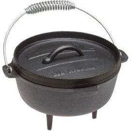Old Mountain 鑄鐵鍋/露營荷蘭鍋/9吋凹蓋有腳鑄鐵鍋 10113