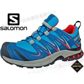 七折特價 Salomon XA Pro 3D Ultra 2 慢跑鞋/運動鞋輕量/Gore-tex 防水多功能野跑鞋 女款 368924 藍/橘