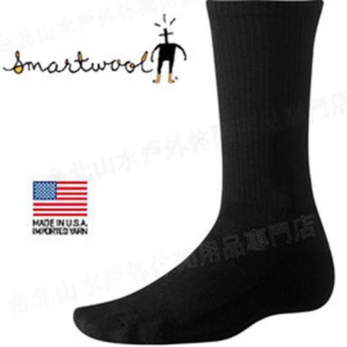 Smartwool 美麗諾羊毛排汗襪/中筒健行薄內襪 SW114 Hike Liner 黑色/台北山水
