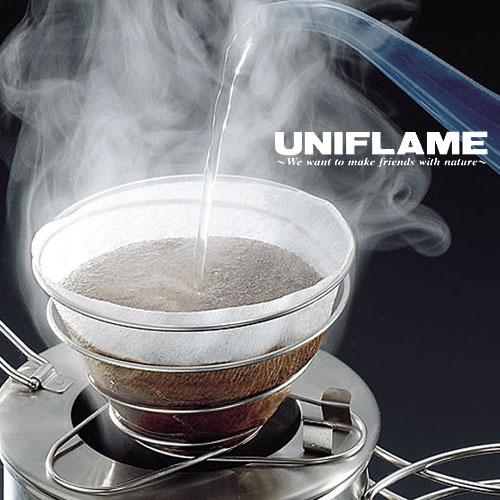 [ UNIFLAME ] 咖啡濾架/不鏽鋼咖啡濾紙架/手沖咖啡架 18-8 304 可折疊輕巧4人份 664018 日本製