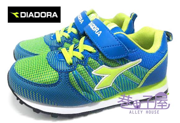 【巷子屋】義大利國寶鞋-DIADORA迪亞多納 男童經典輕量寬楦復古運動跑鞋 [2316] 藍 超值價$498