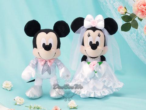 SEGA迷奇米妮絨毛玩偶娃娃景品結婚款新郎新娘621011海渡
