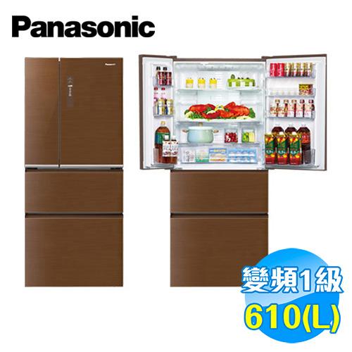 國際 Panasonic 610公升 ECONAVI 四門玻璃 變頻冰箱 NR-D618NHG