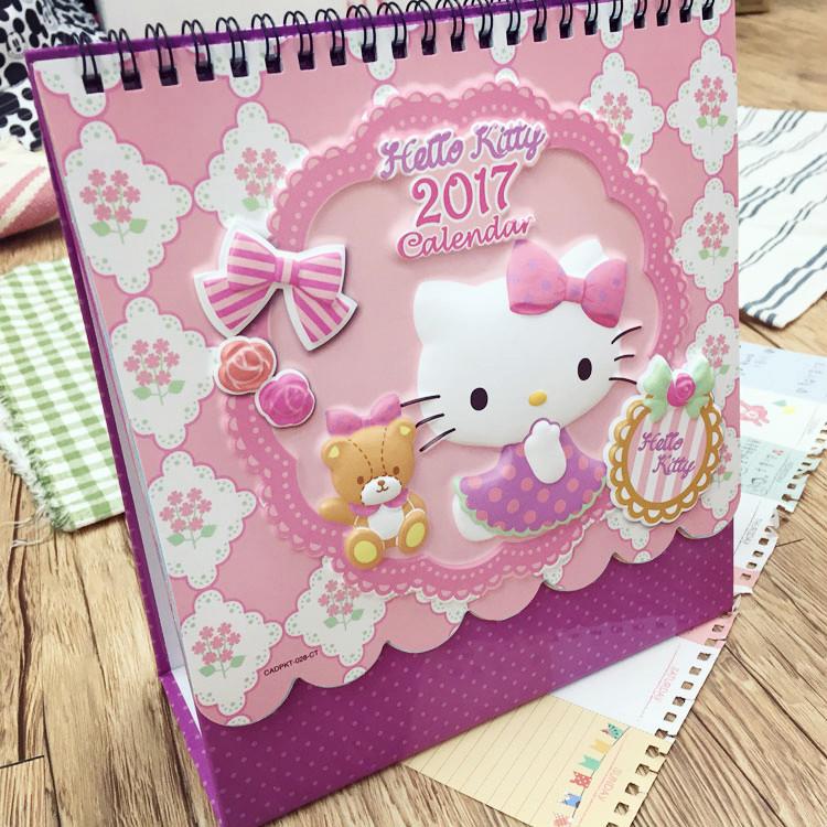 PGS7 (現貨+預購) 三麗鷗系列商品 - Hello Kitty 2017 立體 桌曆 月曆 日曆 行事曆 三麗鷗 凱蒂貓