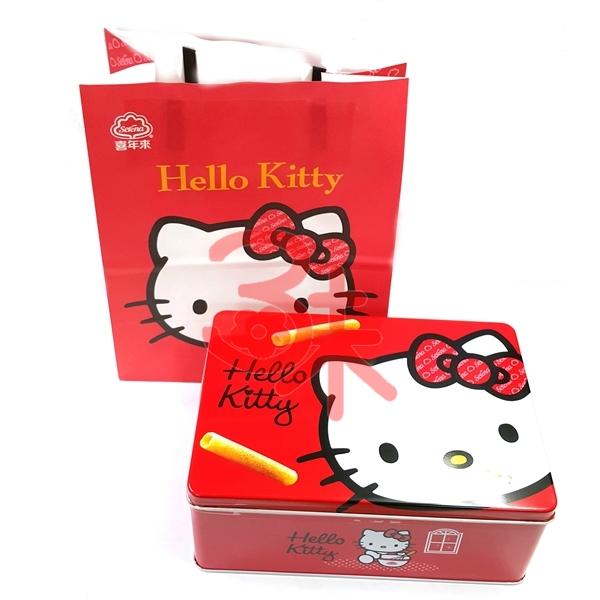 (台灣) 喜年來 Hello kitty禮盒-原味小蛋捲~1盒240g~1盒345元