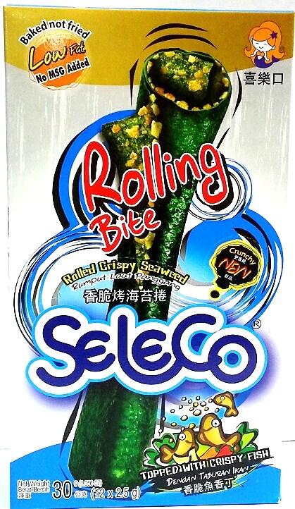 (泰國) Seleco 喜樂口 香脆魚香丁烤海苔捲(海苔卷/烤海苔/烤海苔捲)~1盒~試吃價88元~