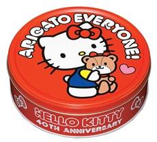 (日本) BOURBON 北日本40週年 Hello kitty 造型巧克力紀念餅乾禮盒(紅) ~1盒345g 裡面有54枚入~試吃價280元~kitty禮盒