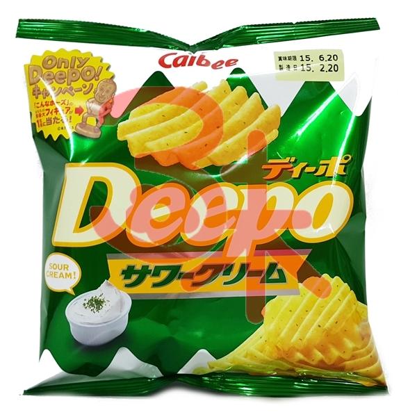 (日本) 加樂比Deepo 鹽味洋芋片 55公克 50元 【4901330566586】