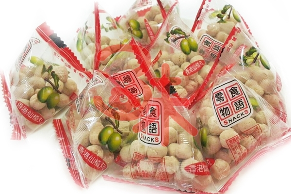 (台灣) 來新 零食物語 粽型香港仙楂丸 600公克(1斤) 100元 (古早味仙楂粒)