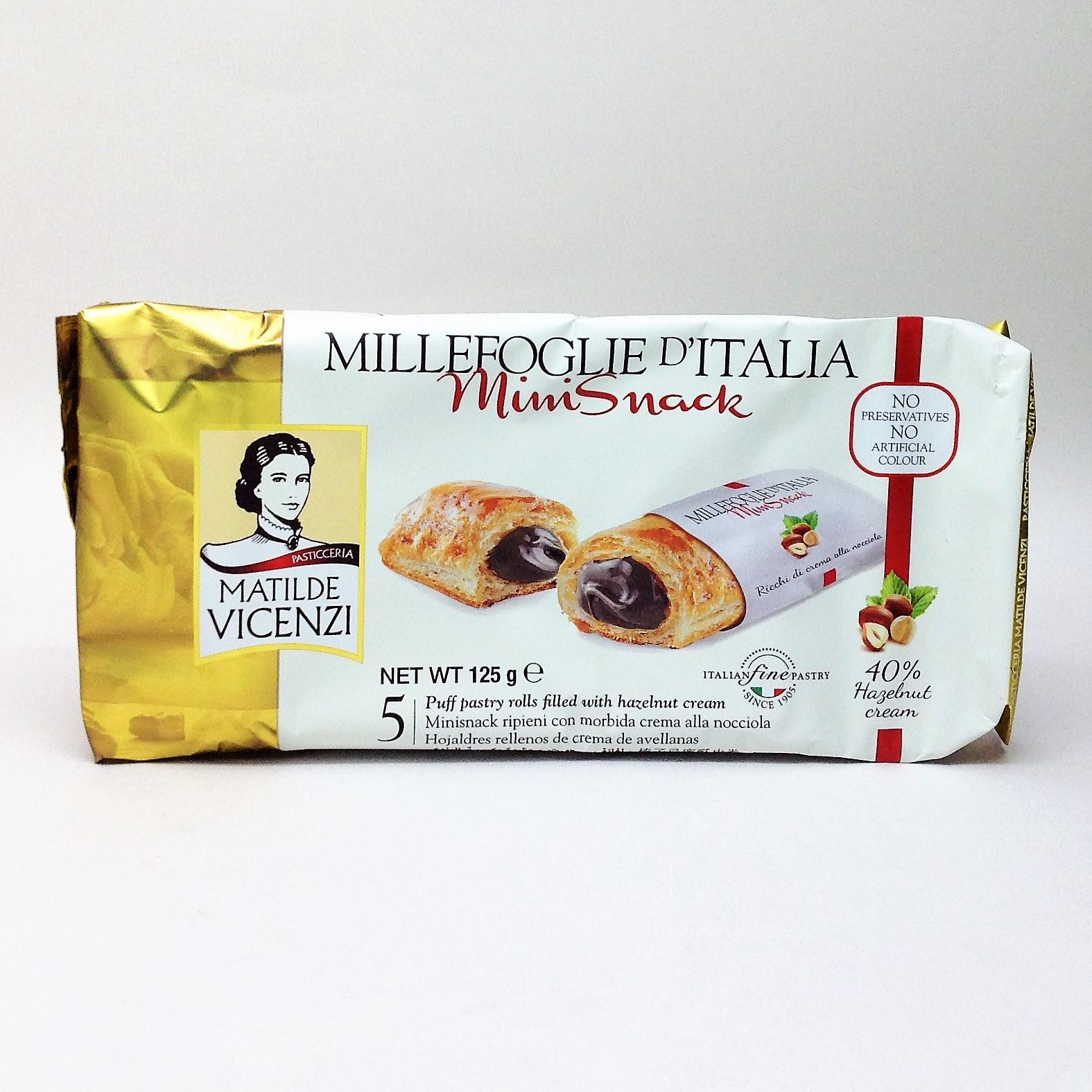 義大利維西尼Mini千層酥-榛果奶油夾心-125g
