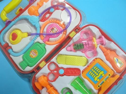 護士醫生遊戲玩具組附體溫計針筒注射器.手提醫生組/一組入{促199}
