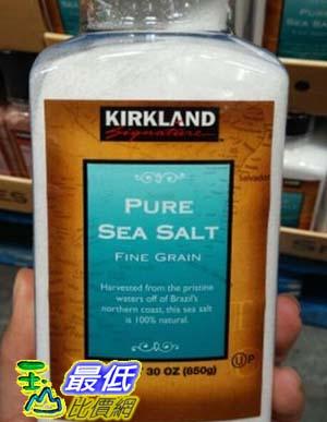 [COSCO代購 如果沒搶到鄭重道歉] Kirkland Signature 科克蘭 純海鹽 850公克 (2入裝) _W617693