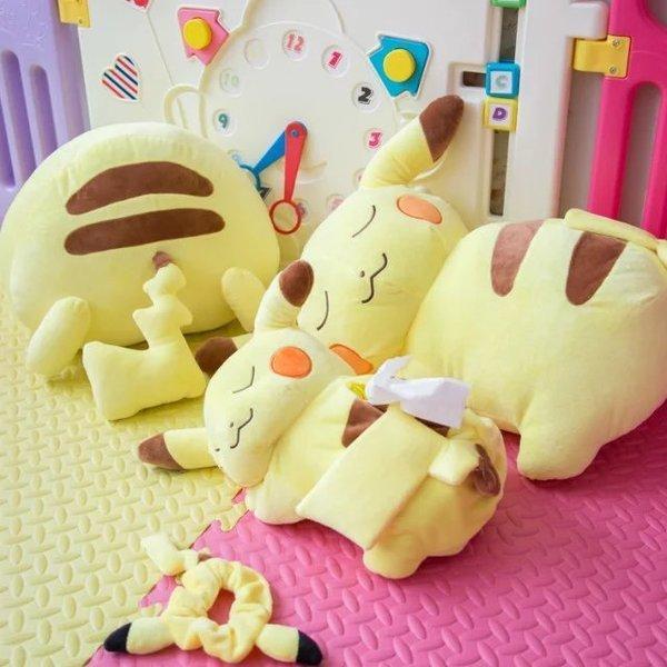 =優生活=日本pokemon寶可夢神奇寶貝皮卡丘 公仔 娃娃 面紙盒套 禮物 抱枕