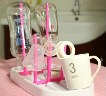 創意可折疊收縮奶瓶瀝水架乾燥架廚房瀝水架 59元