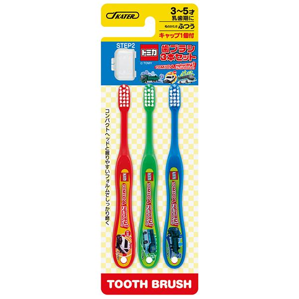 (團購)日本原裝 日本Tomica 兒童用牙刷(3~5歲)3入/3組