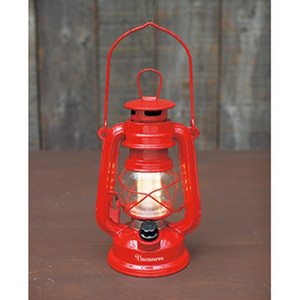 日本原裝 LED復古造型露營燈/夜燈/LED燈(紅)