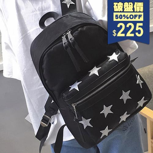 韓版星星刺繡後背包 包飾衣院 P1767 現貨+預購