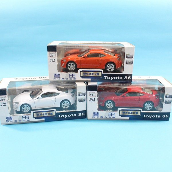 TOYOTA 豐田 86合金車 1:34 模型車 TOP311迴力車F035(白盒)/一台入 促[#199]