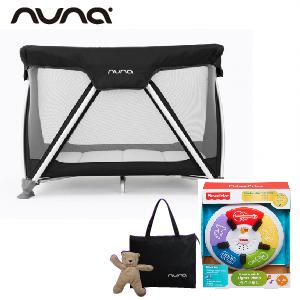 【贈費雪小鋼琴+收納袋+玩偶(隨機)】荷蘭【Nuna】Sena 遊戲床(黑)