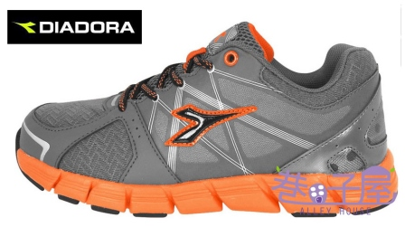 【巷子屋】義大利國寶鞋-DIADORA迪亞多納 男童瓢蟲飛輕量慢跑鞋 [2718] 灰 超值價$693