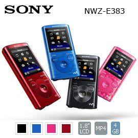【全新出清】SONY NWZ-E383 MP3 隨身聽 4G USB 公司貨  4GB