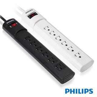 {光華新天地創意電子}PHILIPS 飛利浦 SPC1060  1開6插3孔 平貼式插頭延長線 (1.8米)  喔!看呢來