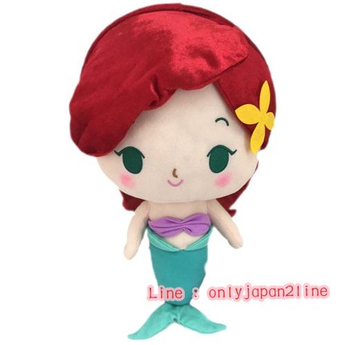 【真愛日本】16100800011小美人魚艾莉兒33CM   迪士尼 小美人魚 The Little Mermaid 抱枕 絨毛 公仔