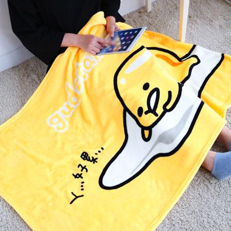 正版蛋黃哥膝上毯 被毯 刷毛毯 毯被 保暖毯 毛毯 嬰兒毯 懶人毯 冷氣毯 毯子【B062411】