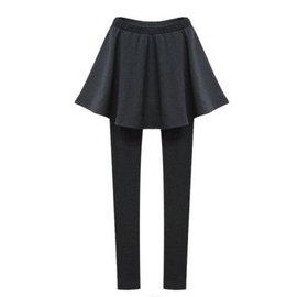 滿700再折$100 [清溪潺潺]今時尚百褶裙擺假兩件裙褲/褲優雅款*加厚款/*2 - 御聖願