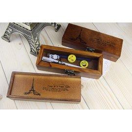 滿700再折$100 [巴黎鐵塔]韓系文具ZAKKA風木製文具盒巴黎鐵塔法國風情系列 - 御聖願