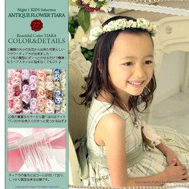 滿700再折$100 日本?精緻童宴會派對婚禮禮服頭花環頭飾 - 御聖願