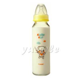 【悅兒樂婦幼用品舘】Combi 康貝 Kuma Kun 標準口耐熱玻璃哺乳瓶240ml (黃) ~新品上市~