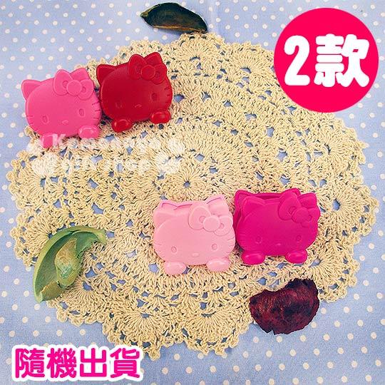 〔小禮堂〕Hello Kitty 造型夾《兩款隨機出貨.2入.大臉.紅/粉/桃紅》實用生活小物