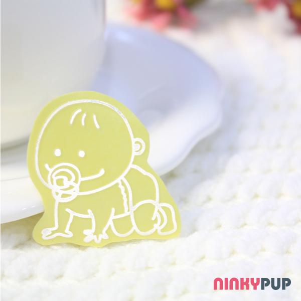 [愛車族必備]  夜間反光貼紙  家族成員  小嬰兒 3.5*3.5cm