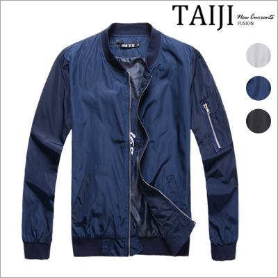 皮衣夾克‧特殊刺繡字母設計MA-1飛行夾克‧三色【ND90028】-TAIJI