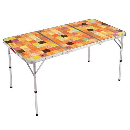 【露營趣】中和 附鋁合金手電筒 Coleman 自然風摺桌/140 休閒桌 露營桌 摺疊桌 野餐桌 CM-26750
