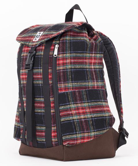 《台南悠活運動家》CHUMS 美國 Back Pack Check Canvas 帆布後背包 CH60-2084