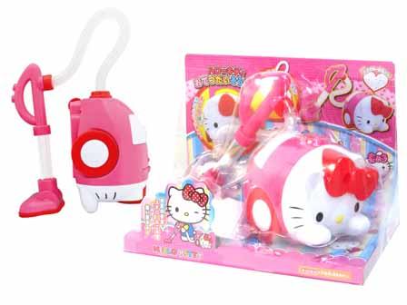 【真愛日本】15100600007玩具吸塵器-KT大頭桃  三麗鷗 Hello Kitty 凱蒂貓  玩具  吸塵器  益智玩具