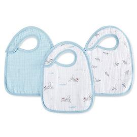 【淘氣寶寶】美國 Aden + Anais 雙層細紗布圍兜(3入裝)飛天狗系列7105英國喬治小王子御用包巾品牌