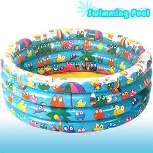 快樂青蛙泳池100CM3圈泳池(不含投籃組).運動.充氣游泳池.充氣泳池.充氣水池P008-74020