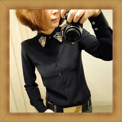 襯衫 OL長袖制服-修身休閒俏麗時尚女上衣6色53d20【韓國進口】【米蘭精品】