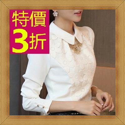 襯衫 OL長袖制服-修身休閒俏麗時尚女上衣53d51【韓國進口】【米蘭精品】