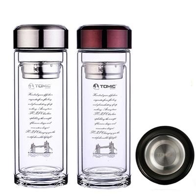 保溫瓶 水壺-休閒輕量戶外隨身攜帶玻璃瓶2色57ad49【英國進口】【米蘭精品】