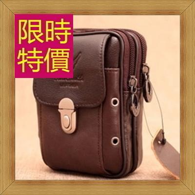 腰包 真皮側背包-經典實用復古男包包2色58c10【義大利進口】【米蘭精品】